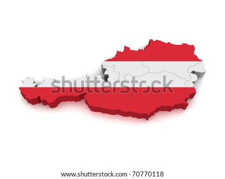 3D Map of Austria