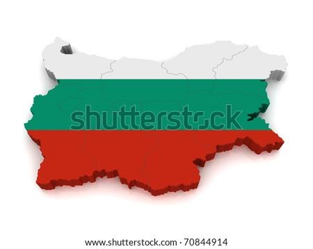 3d Map Of Bulgaria