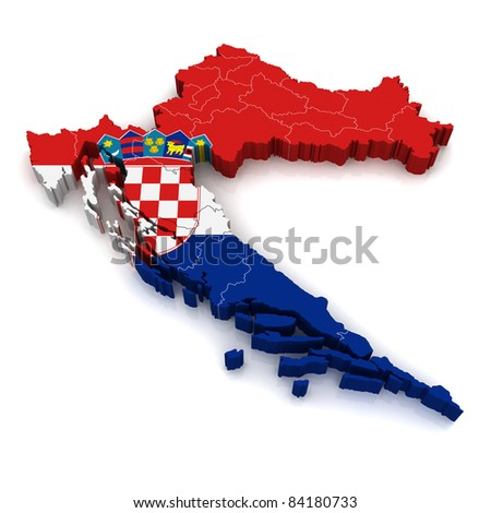 3D Map of Croatia