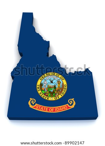 3D Map of Idaho