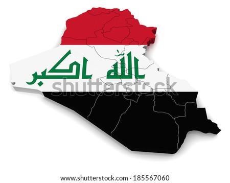 3D map of Iraq