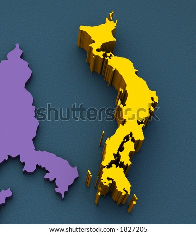 3D Map of Japan