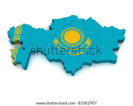 3D Map of Kazakhstan