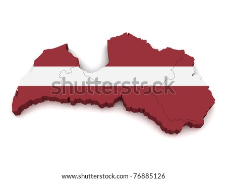 3D Map of Latvia