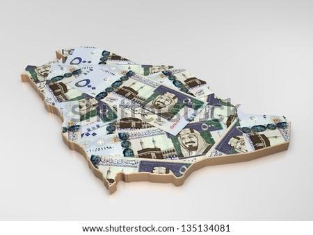 Saudi Arabia Map 3d 3d Map of Saudi With Money