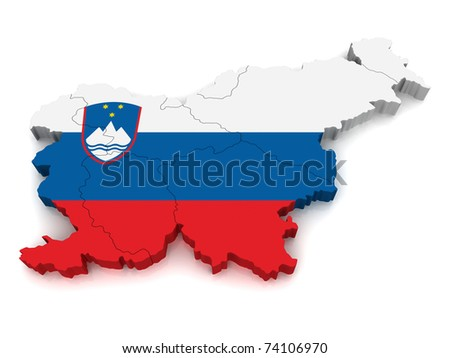 3D Map of Slovenia