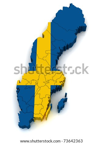 3D Map of Sweden