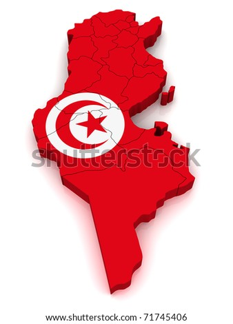 3D Map of Tunisia