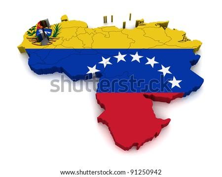 3D Map of Venezuela