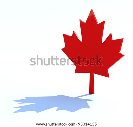 3d maple leaf canadian symbol