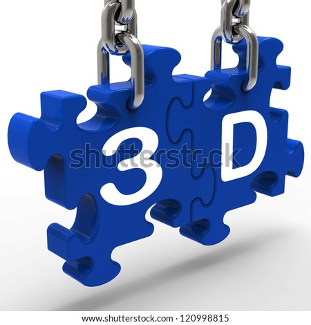 3D Meaning 3 Dimensional High Definition Entertainment Vision
