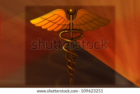 3d medical logo on a color  background