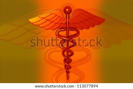 3d medical logo on a color background