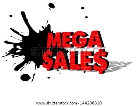 3D MEGA SALE text