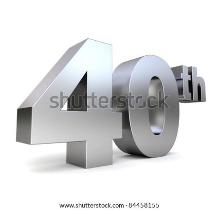 3d metal anniversary number - 40th
