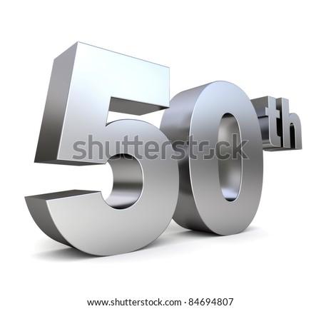 3d metal anniversary number - 50th