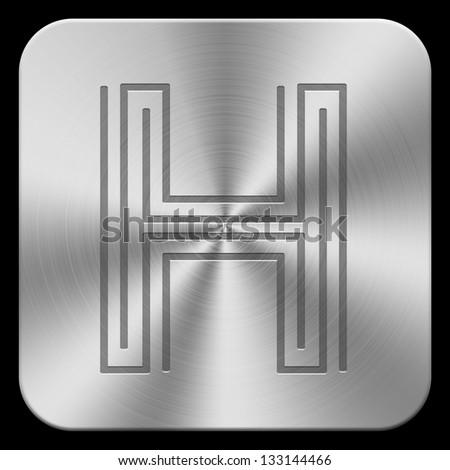 3d metal letters. (high-res.) Stock fotó ©