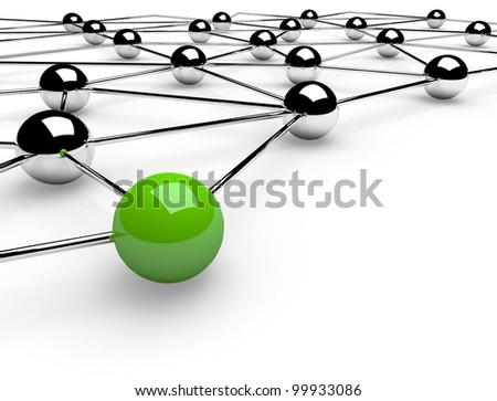 3d metaphor of network communication