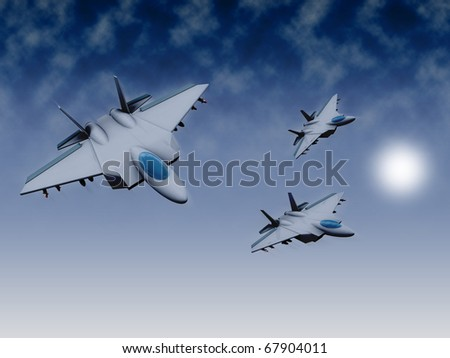 3d military jets