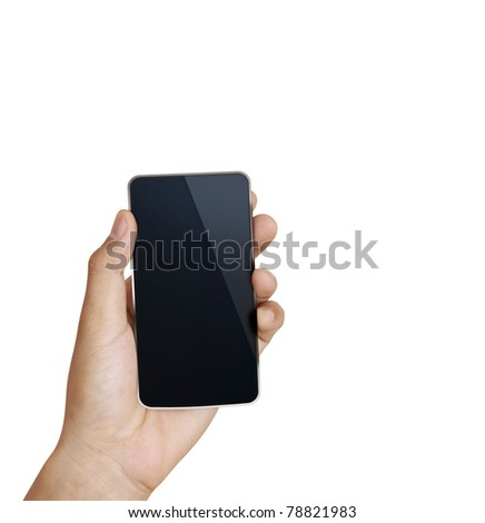 3d  Mobile phone in hand