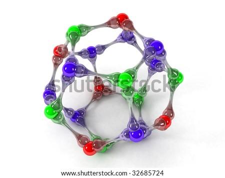 3D model molecule