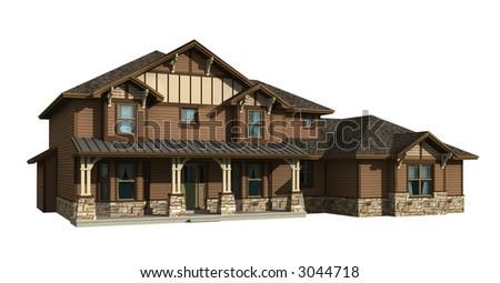 Model house siding