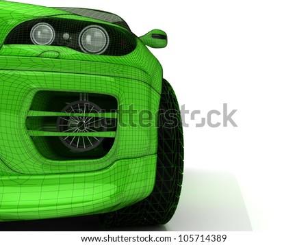 3d model of sport car for wallpaper