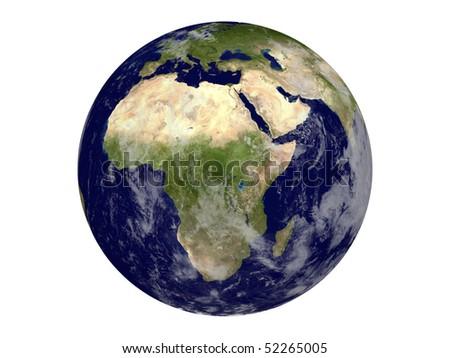 Planet Earth 3d Model 3d Model Planet Earth on White