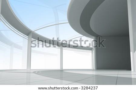 3d modern architecture