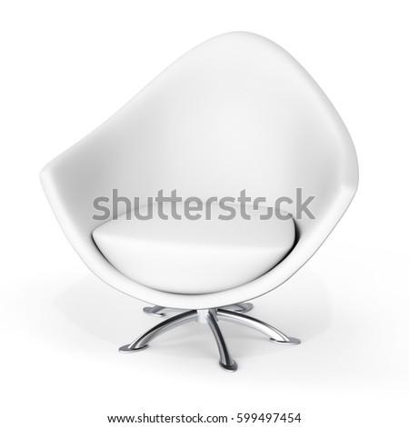 3d modern armchair on white background 3D illustration