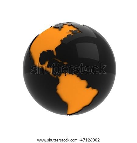 3d modern, shiny Earth icon