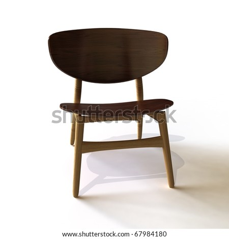 3d Modern Wood Chair Stock Photo 67984180 : Shutterstock