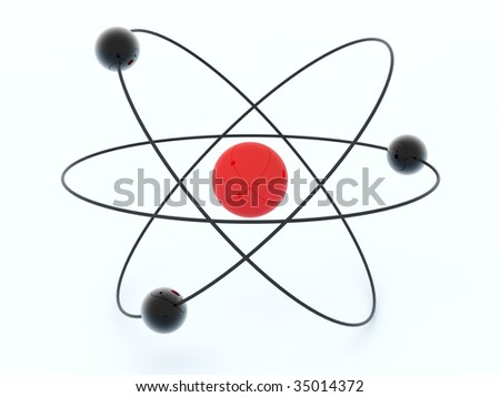 3d molecule isolated on white