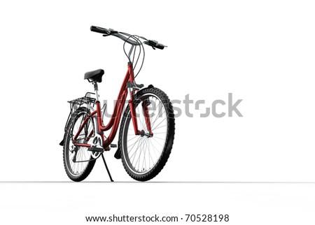 3D mountain bike on grey background