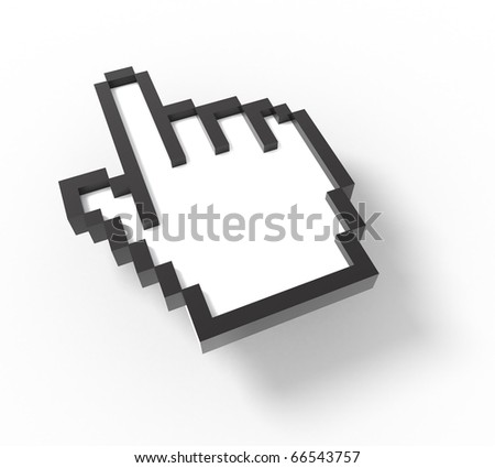 3d mouse cursor - hand version
