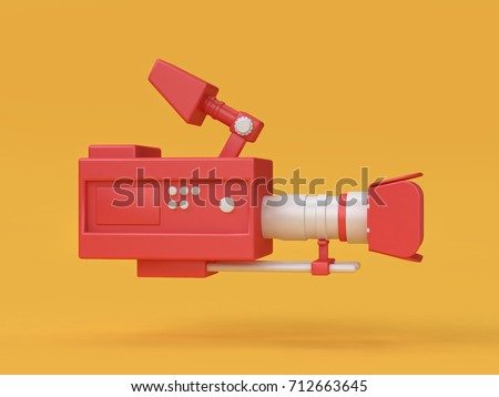 3d movie-cinema camera cartoon style 3d render
