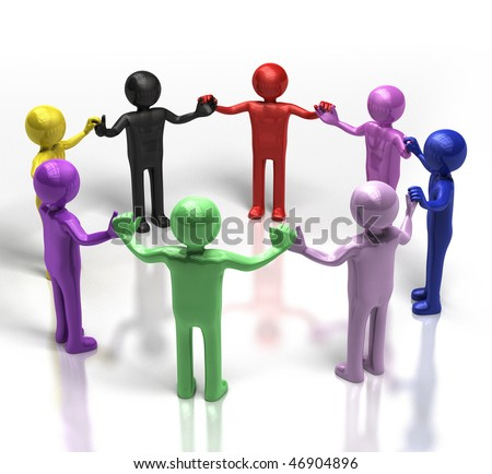 people holding hands in circle. people holding hands in a