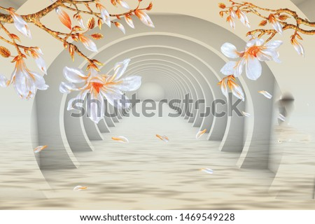 3D  mural poster wall printable up to 3.00x3.00 m highest resolution extra good quality  Stock fotó ©