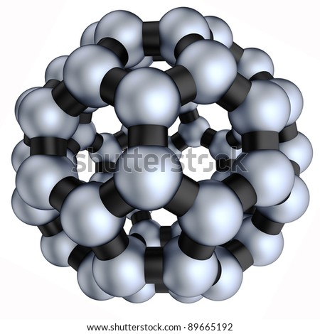 3d nano sphere on the white background