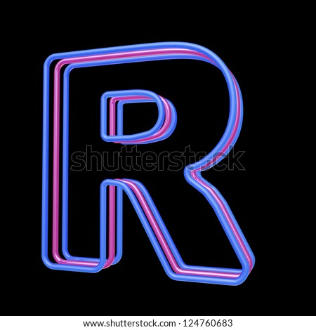 3d neon alphabet letter r isolated on black background ez canvas 3d neon alphabet letter r isolated on black background altavistaventures Image collections