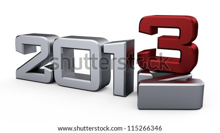 3D new year 2013...