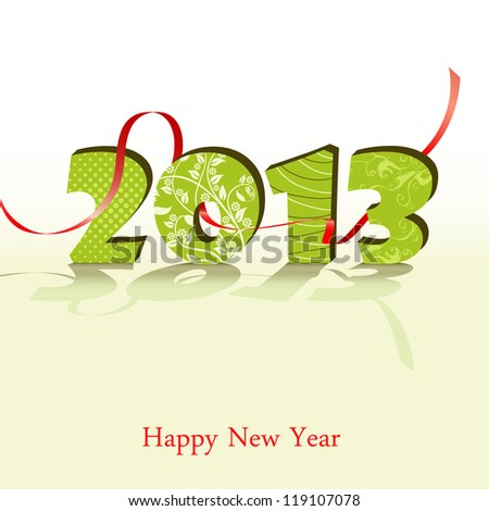 3d new year 2013 design element.