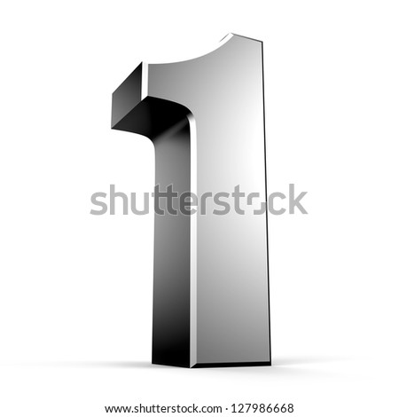 3D number 1 from my metal number collection