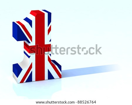 3d number one with english flag