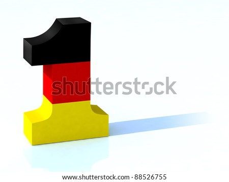 3d number one with german flag