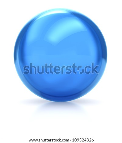 3d of blue  ball isolated on a white background - stock photo