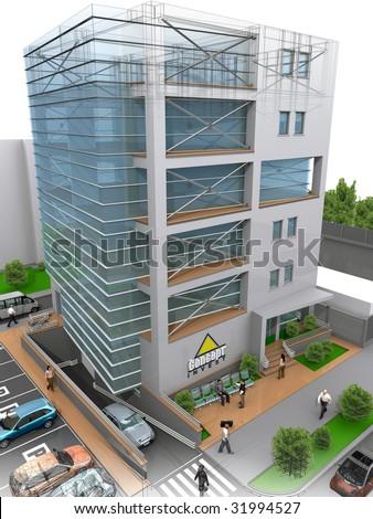 3D office building concept