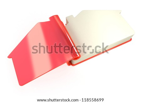 3d opened address book on white background, isolated