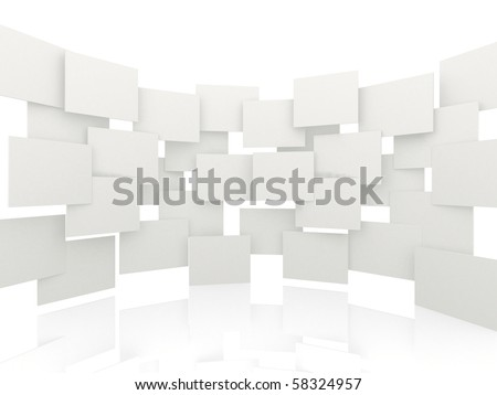 3d overlapping rectangles isolated over a white background