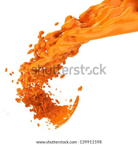 orange color painting